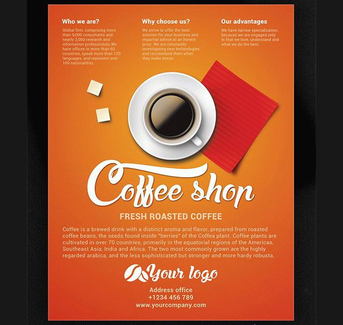 Download-Free-Coffee-Shop-Flyer Flyer Templates Pinterest - coffee shop brochure template