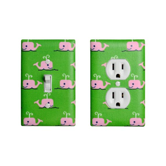 Whale Light Switch Plate & Outlet Cover / Boy Girl Baby Nursery ...