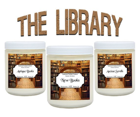 The Library  Soy Candles  3 Scented Candles Includes Antique