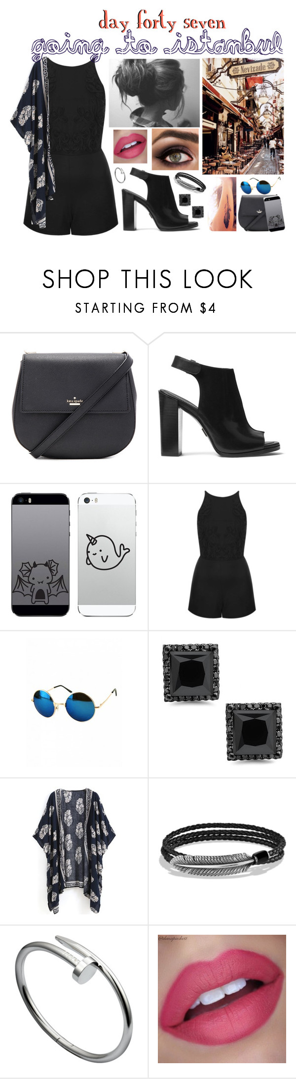 """""""day forty seven, going to instanbul"""" by roxouu ❤ liked on Polyvore featuring Kate Spade, Michael Kors, Topshop, David Yurman, istanbul and byroxouu"""