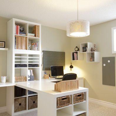 Traditional Home Office Craft Room Design Pictures Remodel Decor And Ideas Page 7 Ikea Expedit By Geneva Deco Bureau Bureau A Domicile Et Idee Deco Bureau
