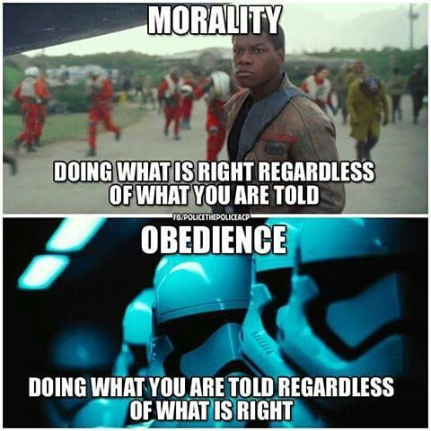 Not True Real Obedience Is Doing What Is Right Based On The Moral