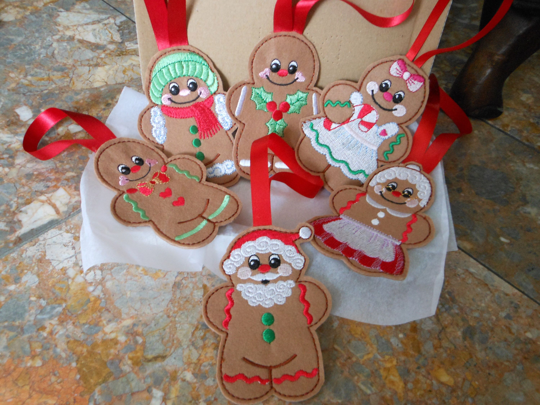 Felt Gingerbread Man Christmas Decoration, Felt Christmas Ornaments,  Christmas Tree Decorations, Gingerbread Hanging