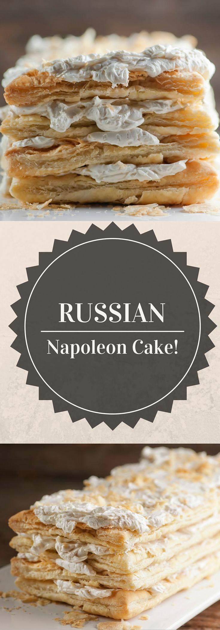 Russian Napoleon Cake - Framed Cooks