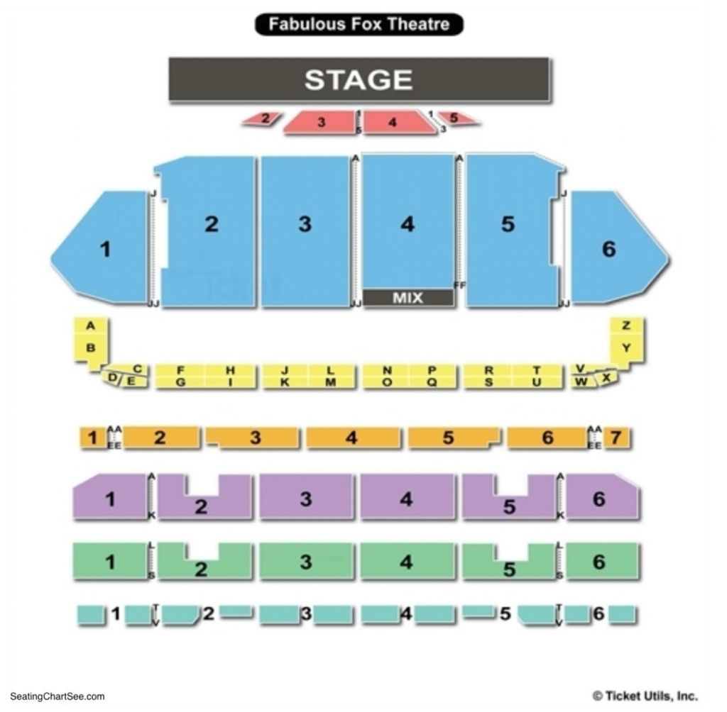 Fabulous Fox St Louis Seating Chart