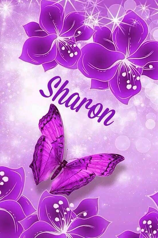 Sharon Name Wallpaper Flowery Wallpaper Dragonfly Wallpaper