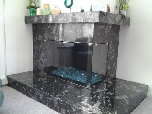 Buy Elite Frameless Glass Door From Wilshire Fireplace Shop
