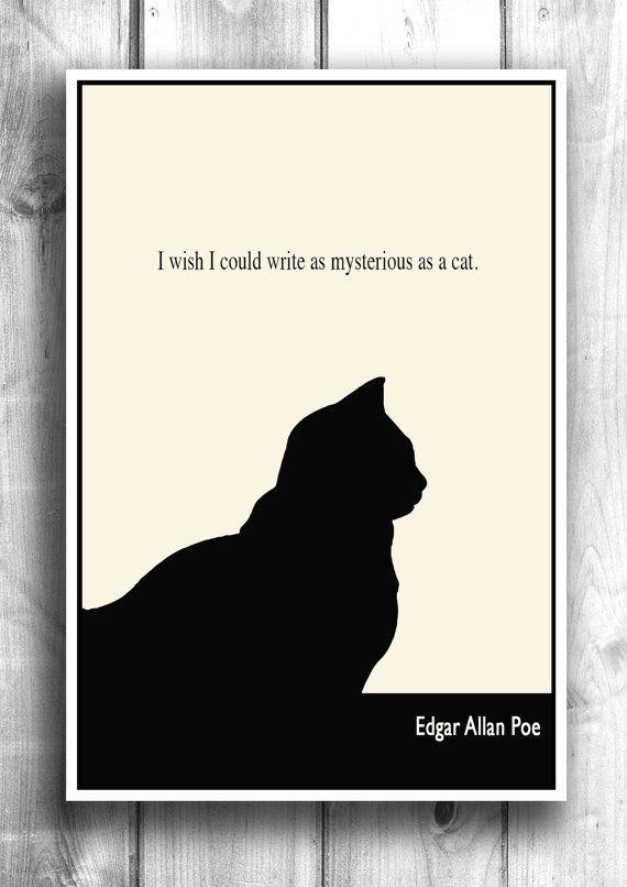 Eu gostaria de poder escrever tão misteriosamente quanto um gato
