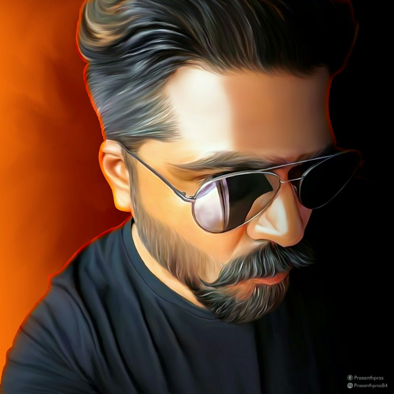 Str Simbu Prasanthpras Prasanthpras84 Thala Ajith Digitalart Digitalpainting Oilpaint Smudge Arts New Movie Images Actors Images Indian Painting