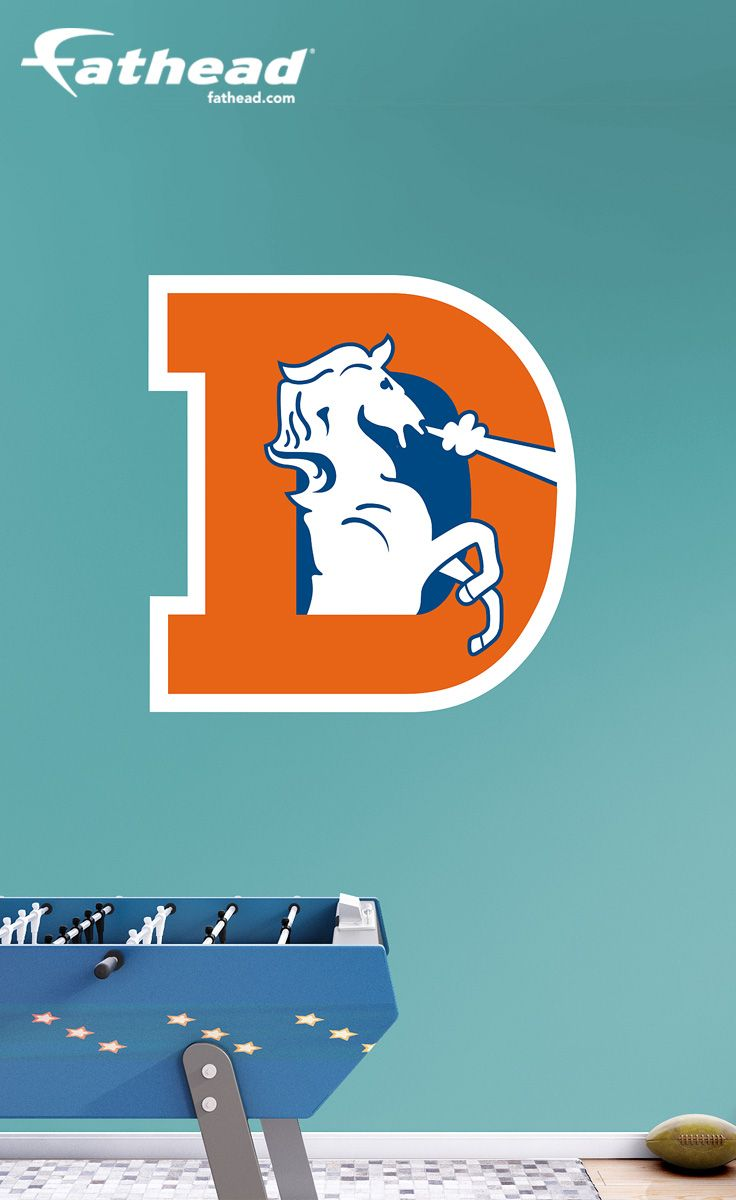 97a52cca DIY Wall Decals | Our Denver Broncos Classic Logo Fathead Wall Decal is  perfect for a