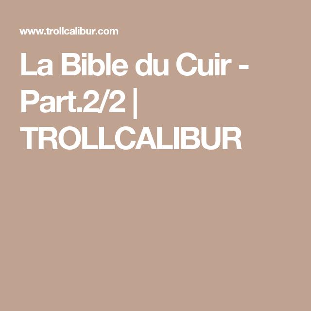 097a9bc50ae La Bible du Cuir - Part.2 2