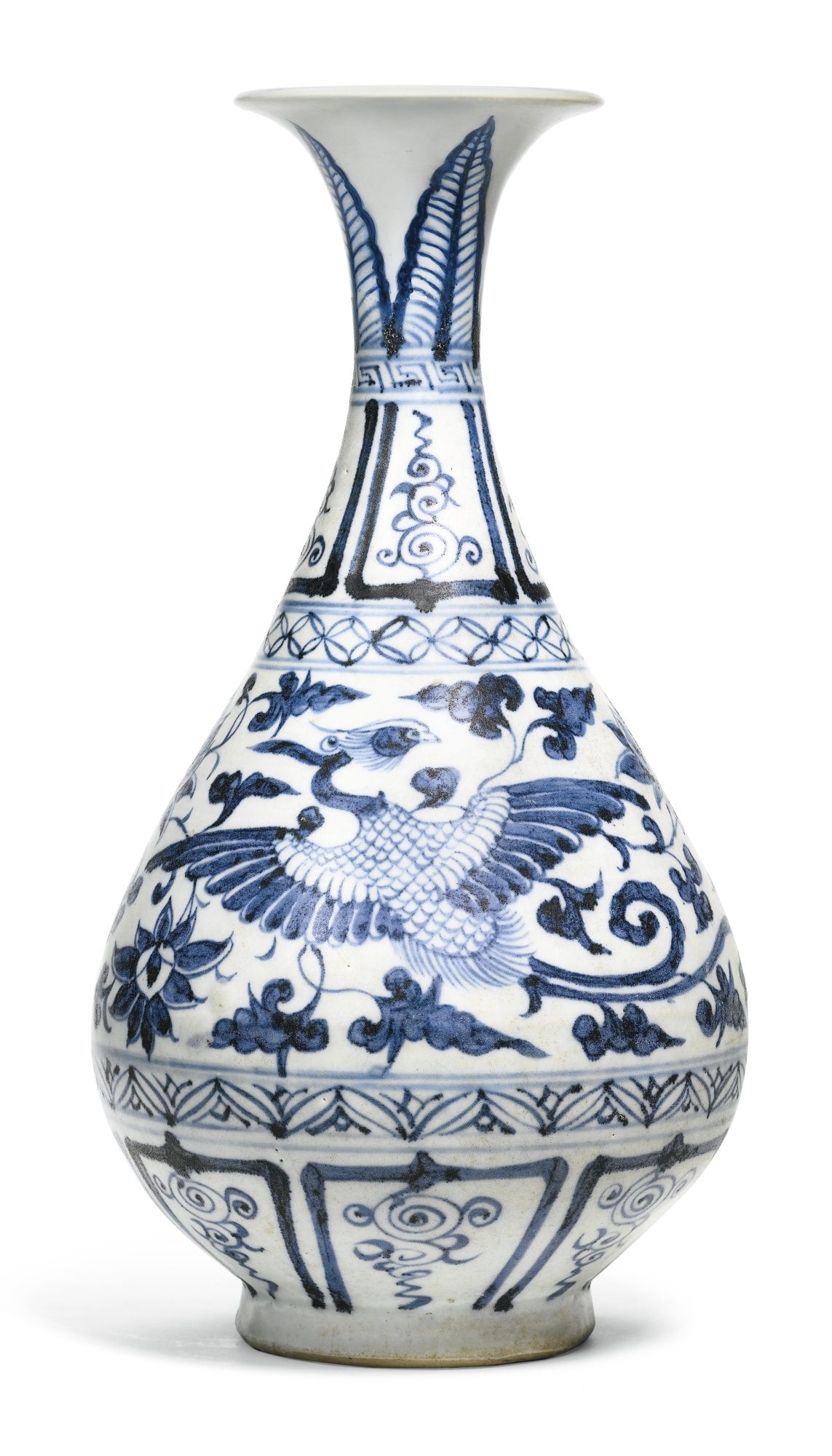 A blue and white phoenix vase yuhuchunping yuan dynasty yuan a blue and white phoenix vase yuhuchunping yuan dynasty reviewsmspy