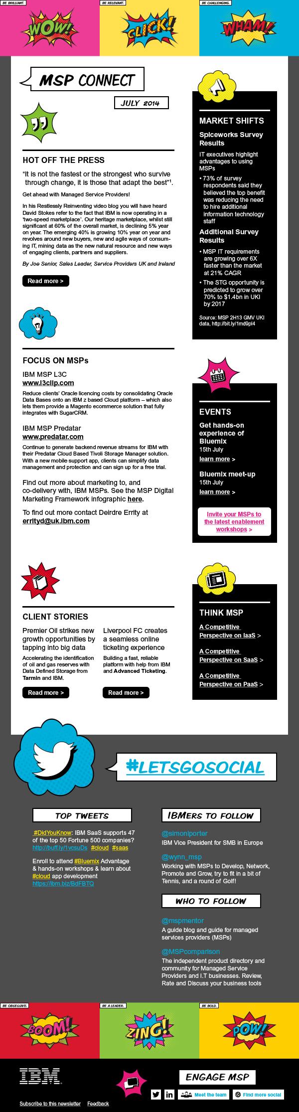 IBM e-newsletter template | Email marketing | Pinterest | Newsletter ...
