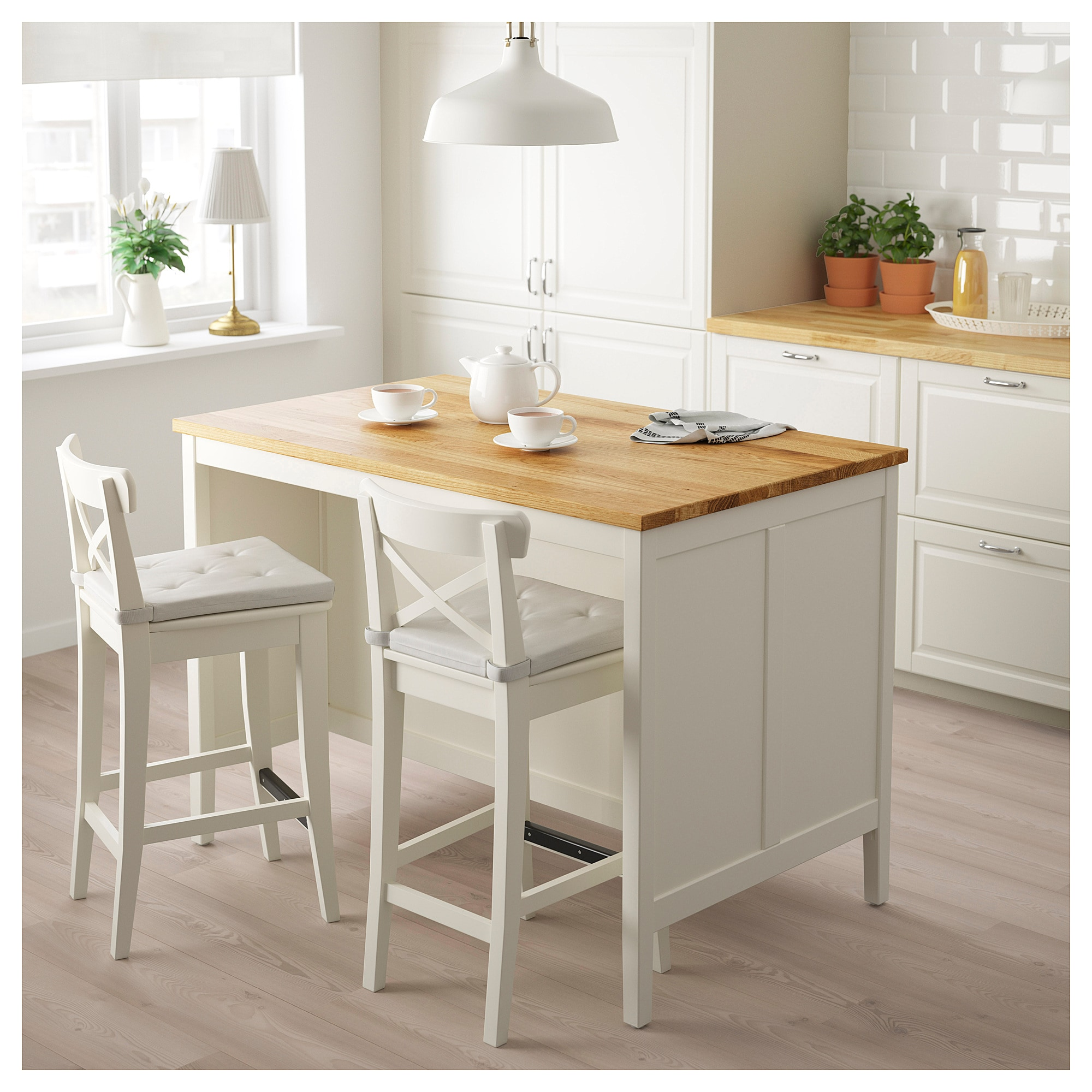 Ikea Tornviken Off White Oak Kitchen Island En 2019 Ilot