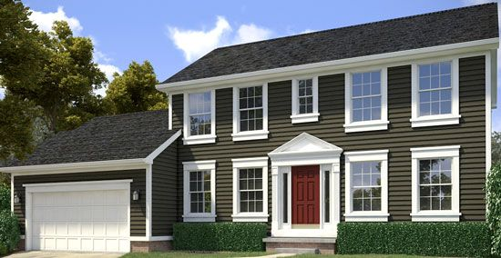 Two story home refresh the designed exterior - How to paint a 2 story house exterior ...