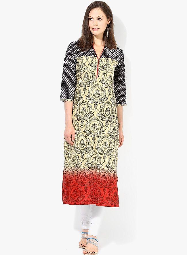 16edc158587 Top online selling Kurtis below Rs. 500, you can't resist to Buy - @  LooksGud.in