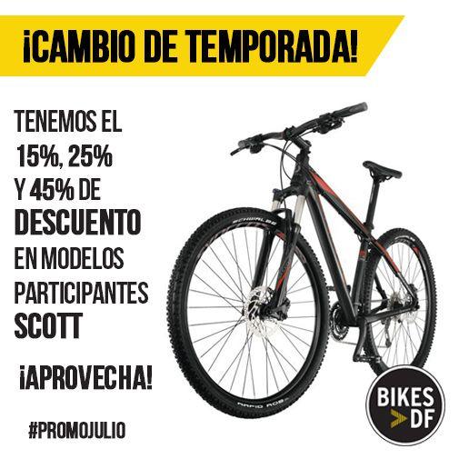 Si quieres cambiar de bicicleta, este es el momento, tenemos grandes descuentos en gran variedad de modelos. Visita nuestra tienda. http://bit.ly/PromoJulioBikesDF