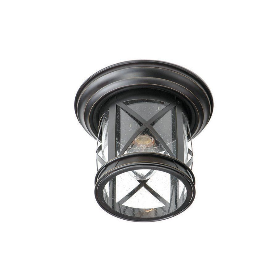 Allen roth oil rubbed bronze outdoor flush mount light lowes allen roth oil rubbed bronze outdoor flush mount light mozeypictures Image collections