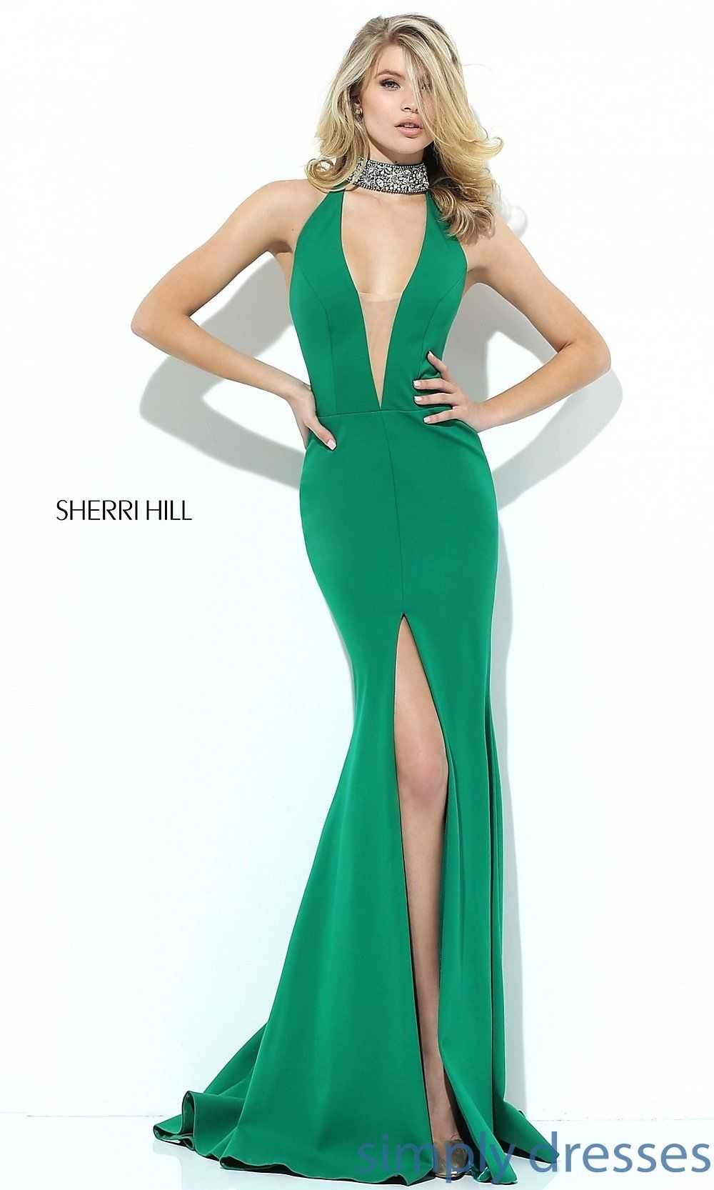 Sh sherri hill dress with front slit dress formal formal