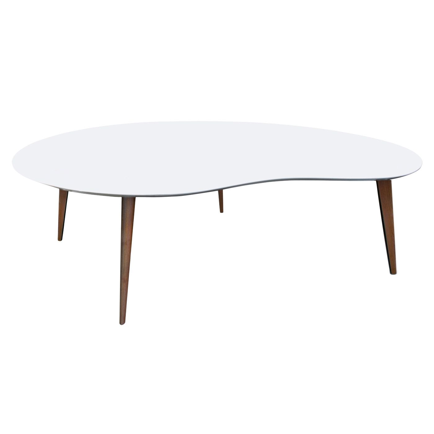 Jonathan Adler Okura White Kidney Table Zinc Door