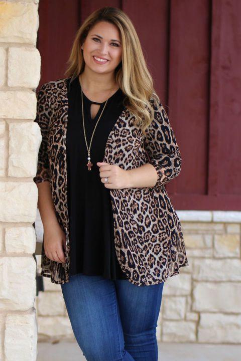 Hanging Around Leopard Print Sheer Kimono ~ Sizes 4-18