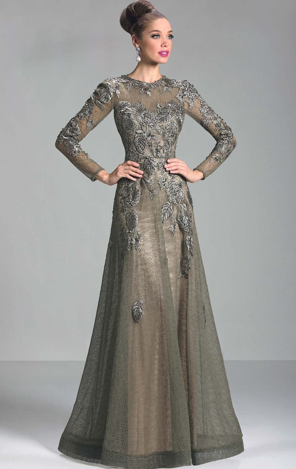 Long Sleeve Mother of the Groom Dresses