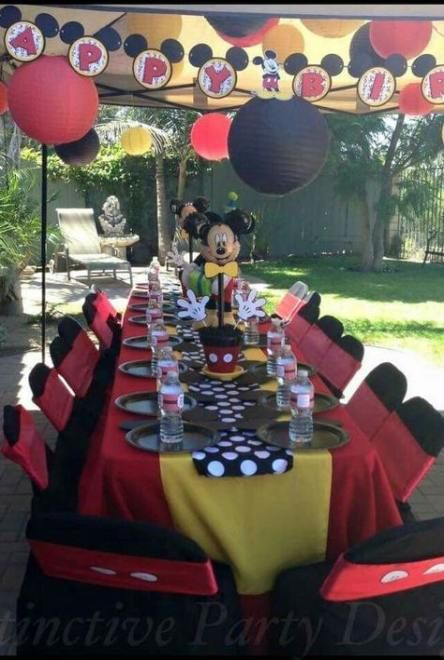 20+  ideas for birthday party table set up mickey mouse #mickeymousebirthdaypartyideas1st