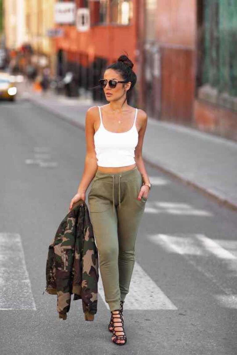 33 Outfits Con Pantalón Deportivo Para Un Look Casual 2018 Jogger Outfit Casual Joggers Outfit How To Wear Joggers