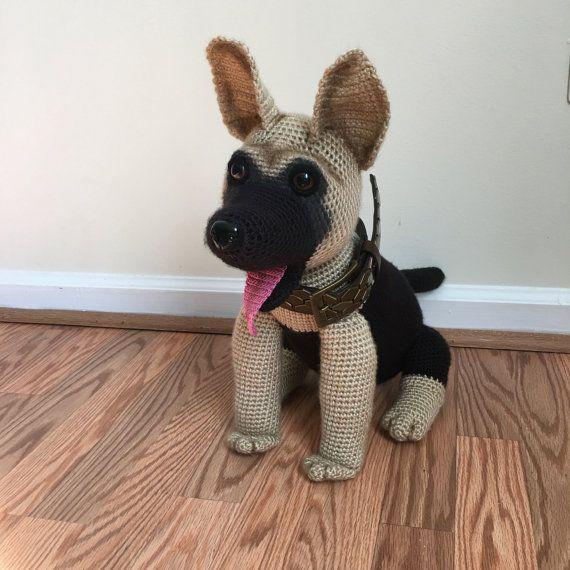 Crochet German Shepherd dog | Pinterest | Pastor alemán, Pastor y ...