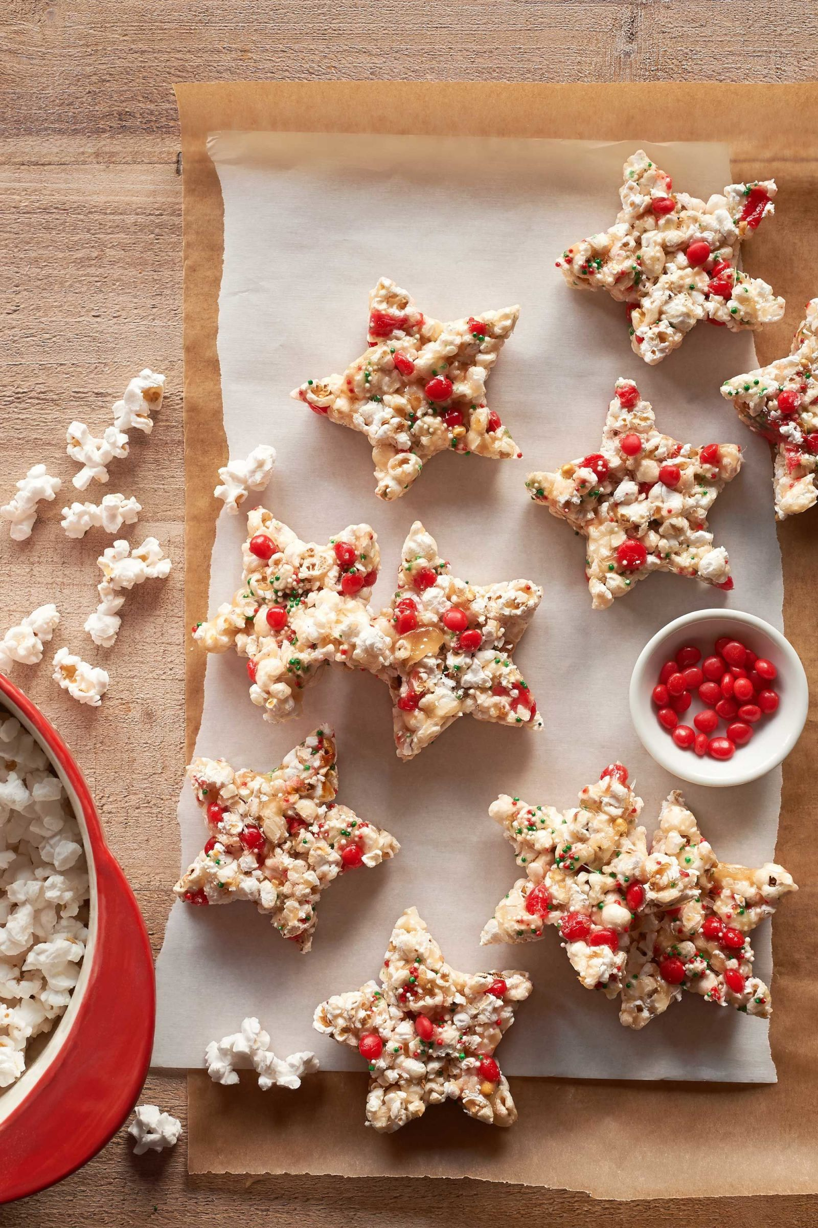 Candied Popcorn Stars  - CountryLiving.com