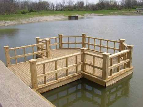Fishing pond dock landscape pinterest pond dock for Pond pier plans