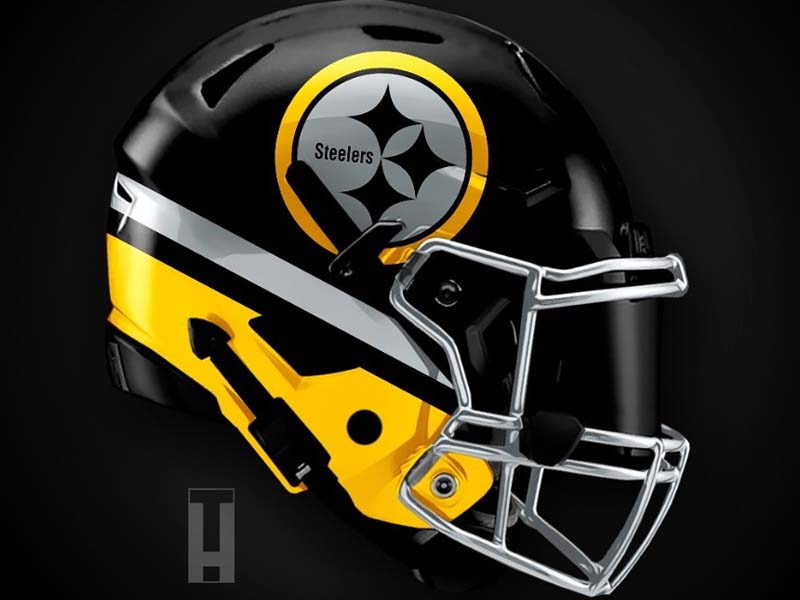 Artist Reveals Absolutely Incredible Helmet Designs For All 32 Nfl Teams Page 14 32 Nfl Teams Pittsburgh Steelers Helmet New Nfl Helmets