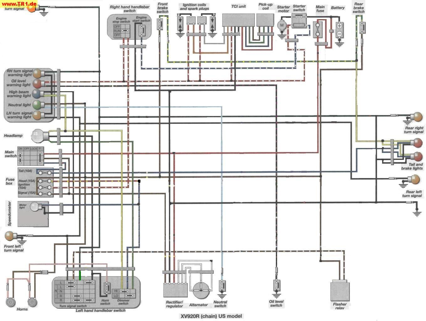 small resolution of xv920 wiring diagram wiring diagram weektr1 xv1000 xv920 wiring diagrams manfred u0027s tr1 page all