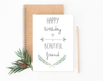 Best Friend Card Happy Birthday Greeting