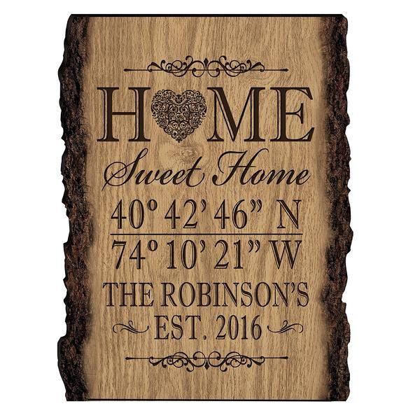 Personalized Home Coordinates Latitude Longitude Barky Wall sign