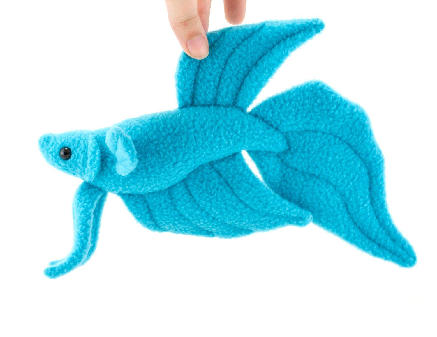 Blue Betta Fish Stuffed Animal Plush Toy Veil Tail Type Betta