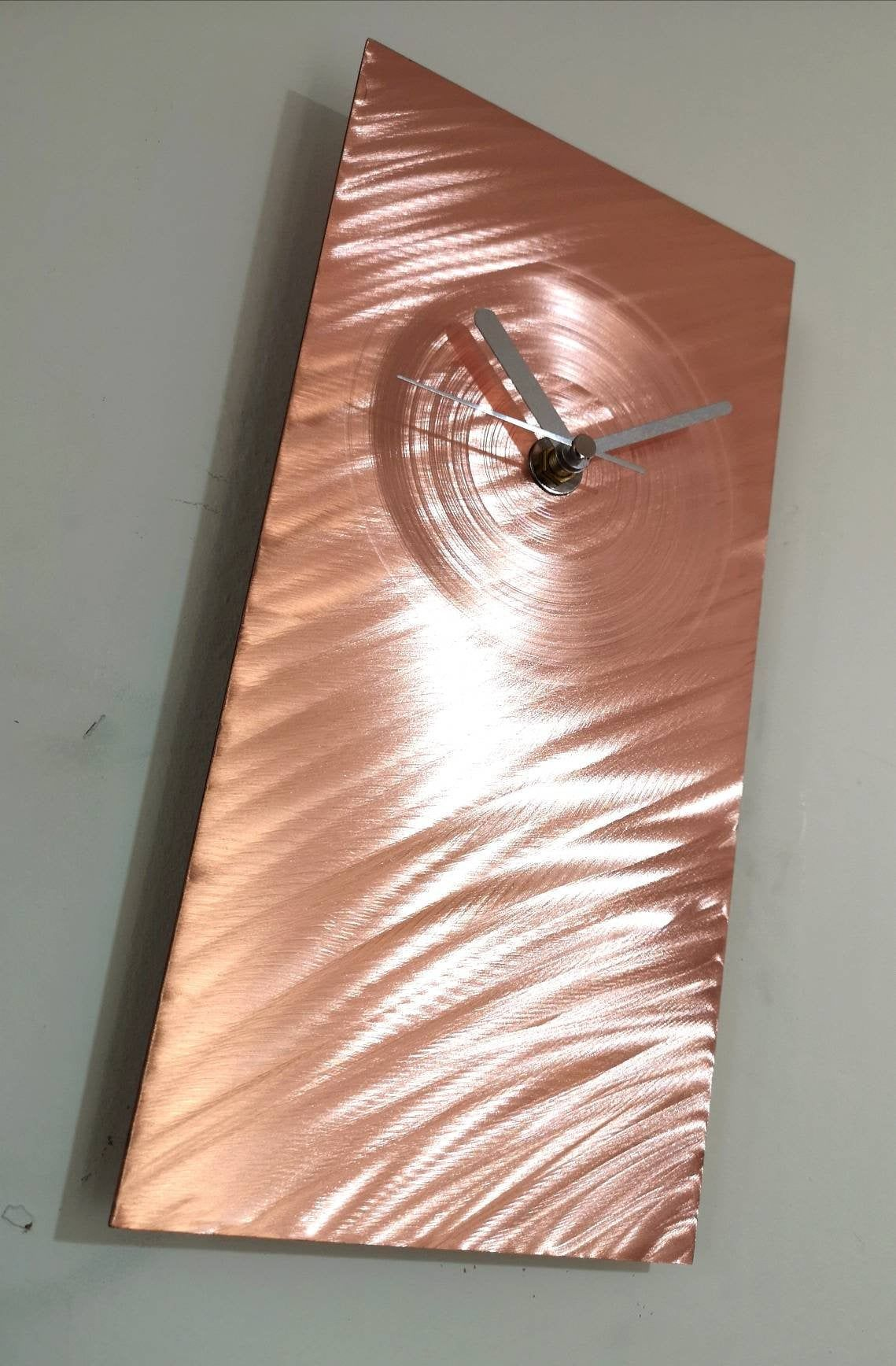 Pin On Abstract Modern Metal Clocke