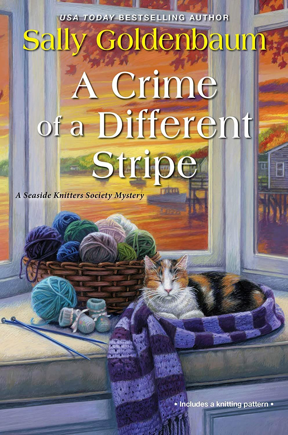 A Crime Of A Different Stripe Seaside Knitters Society Book 4 Kindle Edition By Goldenbaum Sally Mystery In 2020 Book Club Books Mystery Books Kensington Books