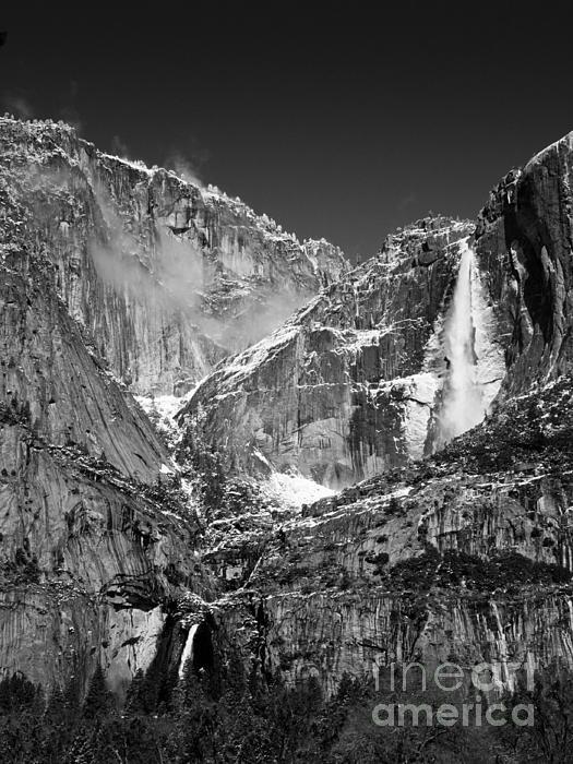 Title yosemite falls in black and white ii artist bill gallagher medium photograph photograph