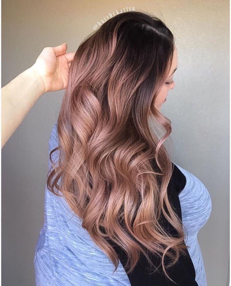 Pastel rose gold hairbykatlin pastelhair rosegold mauve balayage ombre  balayageombre