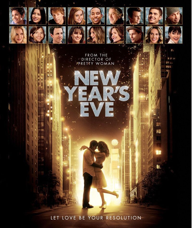 New Year S Eve Movie Poster 27x40 Used Robert De Niro Zac Efron