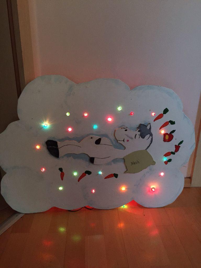 Eine Nachtlampe für Pferdeliebhaberin