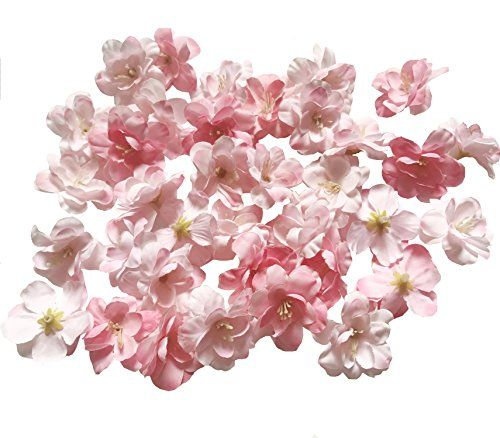 Cherry Blossom Flower Heads 100pcs Colorfulife Artificial Silk Flower Head Petals Bridal Shower F Cherry Blossom Flowers Artificial Silk Flowers Blossom Flower