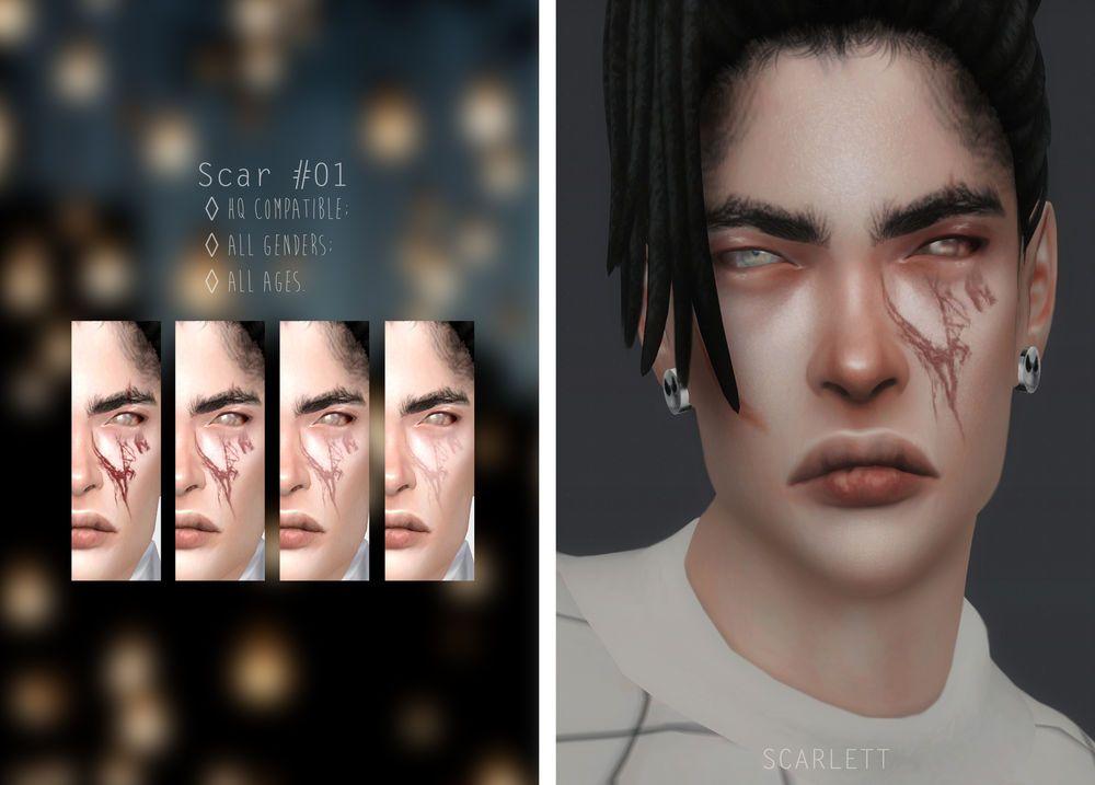 Scar 01 Sims 4 Cc Skin Sims 4 Sims 4 Tattoos
