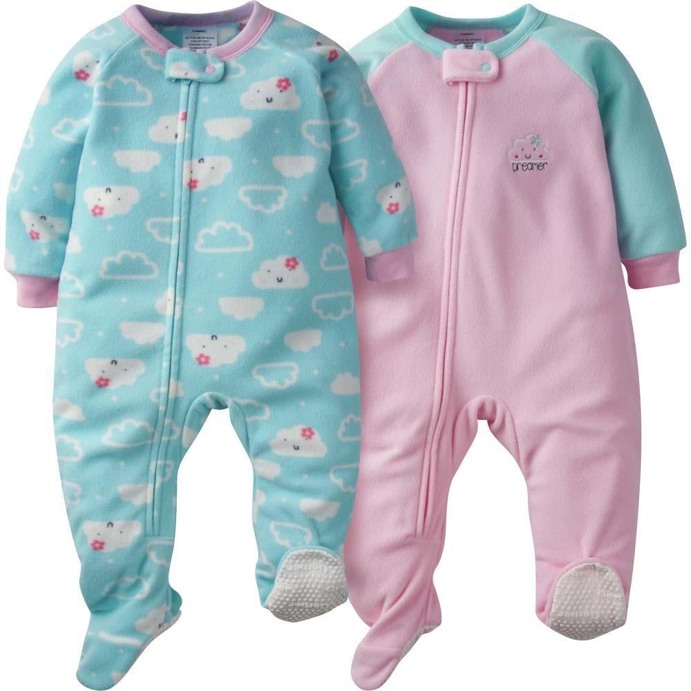 Gerber Baby Girls Sleepers
