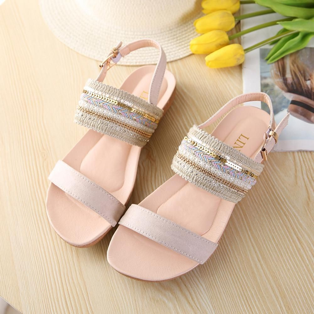 Womens Elastic Band Flip Flops Casual Wedges Sandals Round Clip Toe Rubber Shoes Breathable Sneakers Comfort Slippers