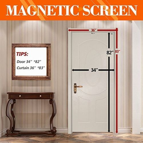 Details About Magnetic Screen Door Fits 34 X 82 Inch Door Max