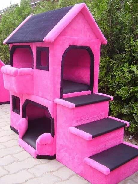 Hot Pink Dog House Bird House Pink Dog Outdoor Decor