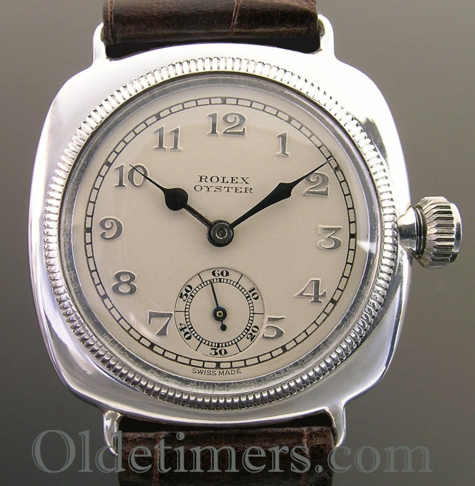 1920s Early Silver Cushion Vintage Rolex Oyster Watch Case Is Gratis Ongkir Fossil Me3064 Townsman Automatic Brown Leather Strap Signed Rwcltd 20 Worlds Records Glasgow 1928 Ultra Prima Movement