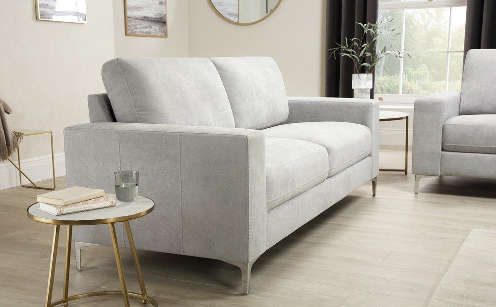 Baltimore Dove Grey Plush Fabric 3 2 Seater Sofa Set Furniture Choice Grey Leather Sofa Grey Fabric Sofa